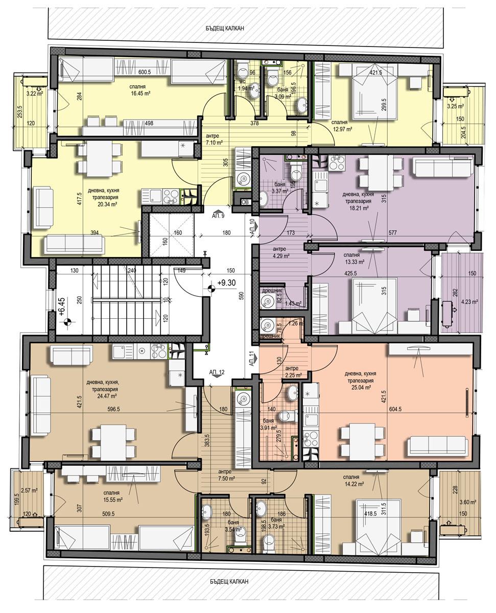 Проект Константин Величков 179 – Етаж 3